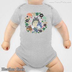 Totoro Onesie Kawaii My Neighbor Anime Grey Manga Troll Hayao Miyazaki Studio Ghibli Baby Shower Gift Infant Newborn Boy Girl Catbus Soot by CanisPicta on Etsy https://www.etsy.com/listing/179023159/totoro-onesie-kawaii-my-neighbor-anime