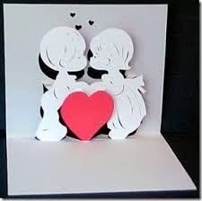 Resultado de imagen para manualidades en cartulina para enamorados