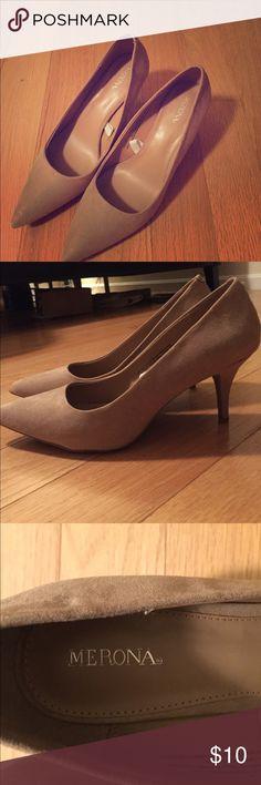 """Merona (Target) NWOT beige suede heels Merona (Target) beige suede heels NWOT never worn. 2.5"""" heels. Merona Shoes Heels"""