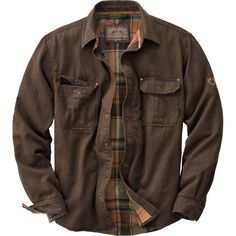 a858f0f546be Amazon.com  Legendary Whitetails Men s Journeyman Rugged Shirt Jacket  Tobacco Large Tall  Home