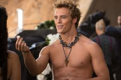 Sam Claflin from Hunger Games Catching Fire