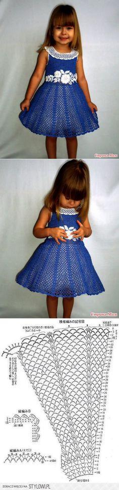 Платье для девочки 'Очарование' | Вязание детям | Пости… na Stylowi.pl