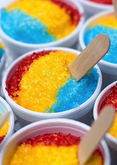 Think these are little sno cones? WRONG. They are CUPCAKES. Check out these 9 Desserts (Almost) Too Cute to Eat