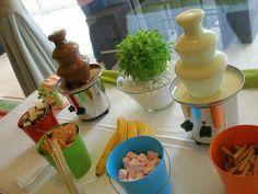 ενοικίαση μικρά συντριβάνια σοκολάτας, συντριβάνι με λευκή σοκολάτα, παιδικό πάρτυ, γεύμα λίγων ατόμων, βάπτιση