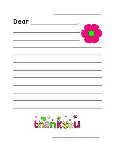 Printable Thank You Cards  Child Homeschool And School