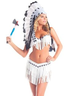 costume adventure womens suede sexy indian chief costume - Native American Costume Halloween