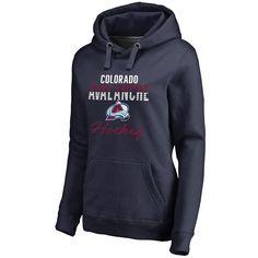 Women's Colorado Avalanche Fanatics Branded Navy Freeline Pullover Hoodie SMALL
