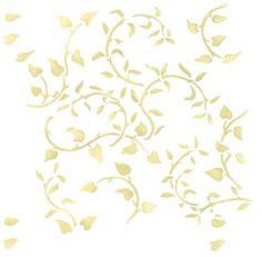Leafy Wallpaper Wall Stencil