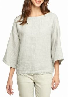 Eileen Fisher  Three Quarter Sleeve Boxy Top