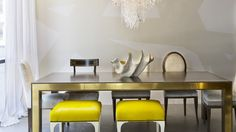 Reagan Hayes Showroom   Addison Dining Table, James Bench, Murano Chandelier, Zelia Dining, Cynthia Dining
