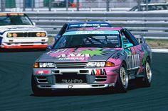 GT-R Group A - Google 検索 Nissan Skyline Gt R, R32 Skyline, Racing Car Design, Sports Car Racing, Race Cars, Tuner Cars, Jdm Cars, Le Mans, R32 Gtr