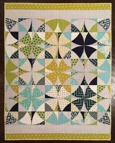 """""""So happy with how this baby boy quilt turned out!  I kept the quilting simple knowing this quilt will be used and washed many times. I used minky on the…"""""""