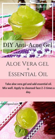 Aloe Vera Gel is perfect for acne prone skin as it kills acne causing bacteria or microbes and it's anti-inflammatory too. Mix Aloe Vera Gel with essential oils like tea tree oil etc and apply as a aloe vera face mask or as a daily anti acne gel.