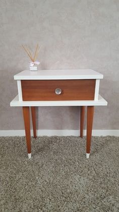 paire de chevet vintage table de nuit bleu vert lagon vendu deco vintage pinterest. Black Bedroom Furniture Sets. Home Design Ideas