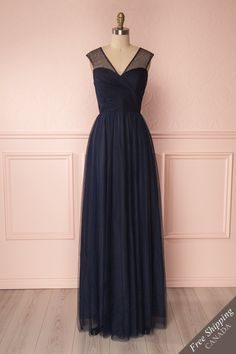 Adifa Navy #boutique1861 #dress #promdress #prom #navy #navyblue #bridesmaid #bridesmaiddress #aline #maxidress