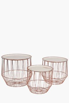 Urban Nested Side Tables - Shop New In - Furniture - Shop Wire Coffee Table, Wire Side Table, Side Tables, Metal Furniture, Living Room Furniture, Decorative Bowls, Contemporary, Interior, Urban