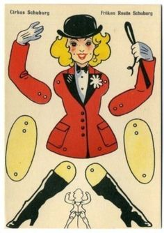 Post Card Paper Toy CutOut Mechanical Circus Ringmaster (06/06/2013)