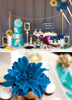 Hunger Games Party Capitol Dessert Table #hungergames I like this for MockingJay b/c of the blue