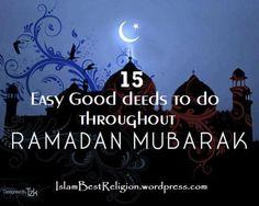 15 easy good deeds