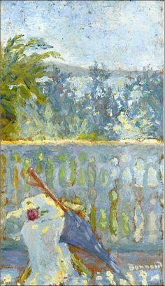 Pierre Bonnard (1867-1947) Le balcon et l'ombrelle (by BoFransson)