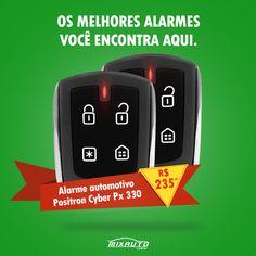 Criação card Facebook do alarme automotivo Pósitron para a MixAuto www.mixauto.com.br