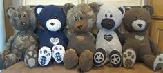 Memory bears from old clothes