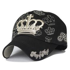 bd7a347dcf35f 1xthree de oro bordado corona gorra de béisbol entre padres e hijos ...