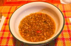 Lentil soup  Guaria de Osa Near Corcovado National Park Osa Peninsula, Costa Rica #food #foodie #travel #family