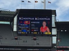 Nice idea by @melbournefc @MCG getting @AFLFemale players to select game day playlist. #AFLWomensGame #fanexperience