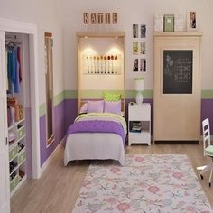 """Discover additional details on """"murphy bed ideas space saving"""". Have a look at our web site. One Bedroom, Girls Bedroom, Bedroom Ideas, Bedroom Decor, Murphy-bett Ikea, Modern Murphy Beds, Murphy Bed Plans, Decorate Your Room, Girl Room"""