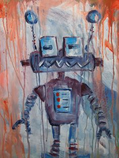 Robot painting with help from my 2 year old son! Robot Painting, 2 Year Olds, Homemade, Art, Kunst, Hand Made, Do It Yourself, Art Education, Artworks