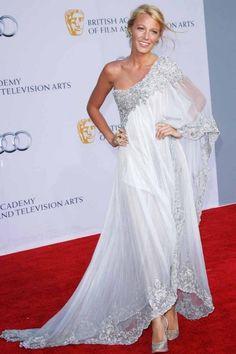 White One-Shoulder Long-Sleeved Dress With Detailed Hem & Neckline
