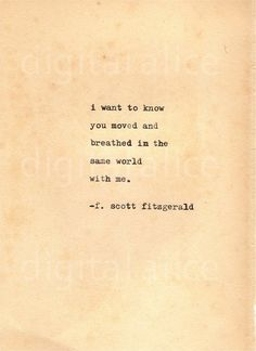 VINTAGE TYPEWRITER PRINT f Scott Fitzgerald Quote -Wall Art Instant Download-breathing dreams like air no.58