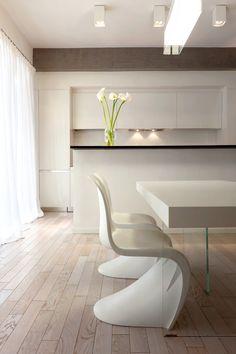 soggiorno piccolo con angolo cottura - raffinata zona living ... - Soggiorno Total White