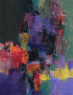September 2015 - 1 - Original Abstract Oil Painting - 31.8 cm x 41.0 cm (app. 12.5 inch x 16 inch)