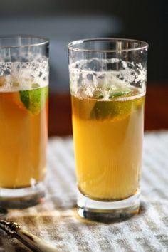 gingered beer cocktail.