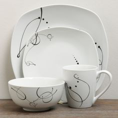 TTU Gallery 'Pescara' Dinnerware Set - Overstock™ Shopping - Great Deals on TTU Gallery Casual Dinnerware Mikasa Dinnerware Set, China Dinnerware Sets, Casual Dinnerware, Dinner Dishes, Dinner Sets, Pebeo Porcelaine 150, Unique Mothers Day Gifts, Kitchen Essentials, Serving Dishes