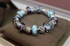 Blue and Purple Spring! Pandora Bracelets, Pandora Jewelry, Pandora Charms, Blue Charm, Pandoras Box, Favorite Color, Women Jewelry, Sparkle, Jewerly