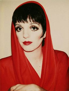 Liza wearing Halston. Polaroid by Andy Warhol.