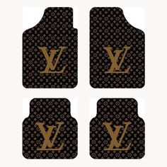 $155.32 Furry LV Universal Automotive Carpet Car Floor Mats Velvet 4pcs Sets - Brown, Using beautiful soft high quality velvet, better texture, No irritating odor, durable wear, Winter does not distort, does not harden, moderate hardness and elastic, Can well prevent snow and mud flows inside the dirty floor, and can effectively protect the carpet, Very easy to clean, wash with water can easily wash away all the dirt.