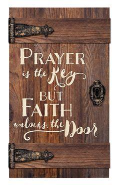 Prayer Is the Key But Faith Unlocks the Door Door Art DIY Wood Signs Art Door Faith key Prayer Unlocks Woodworking Crafts, Woodworking Plans, Woodworking Classes, Popular Woodworking, Woodworking Techniques, Woodworking Furniture, Woodworking Beginner, Youtube Woodworking, Woodworking Shop