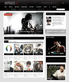 This Joomla music template includes a clean design, JomSocial and K2 ...