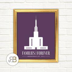 LDS Hamilton New Zealand Temple Personalized Printable Design PDF / JPEG File by RoseBlossomPrints