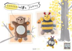 Monkey Banana and Bee Honey Nopnop Puppet by Kaloo