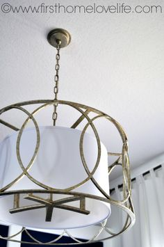 """Christine of """"First Home, Love Life"""" upgraded her dining room with our beautiful Troy Lighting Sausalito pendant light. Read her review and enter for a chance to win an $100 credit to National Builder Supply here: http://www.firsthomelovelife.com/2013/08/dining-room-light-fixture.html"""
