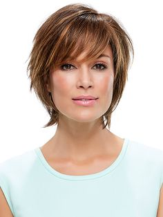 Diane Synthetic Wig by Jon Renau is a short shaggy hair design with various textures and cuts. Created with a monofilament base and hand tied design for the most realistic creation.