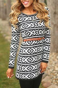 Pretty Pattern Tribal Dress - Double Zero