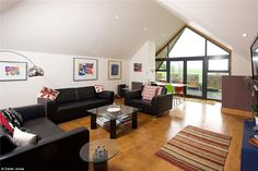 The top floor opens out on to a roof terrace with a view of Yorkshire's rolling hills from...