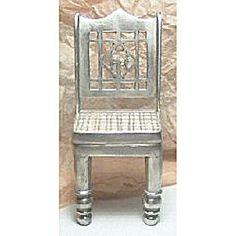 Heavy Cast Metal Ornate Dollhouse Chair