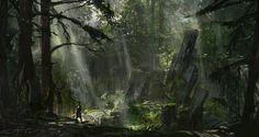 woods, ioan dumitrescu on ArtStation at http://www.artstation.com/artwork/woods-3a321486-3bf5-4efe-9b66-83725e385b20